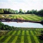"""16th At Westhampton CC""    Oil On Linen    36"" X 50""      2003"