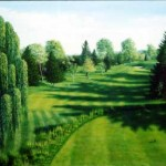 """1st At Plandome CC""    Oil On Linen    36"" X 48""      2003      Prints Available"