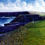 "3rd At Kilker G.C. Ireland   Oil On Linen   20"" X 36""    2002"