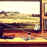 """Centennial Reflections"" - The artist created this still life to commemorate the 100th anniversary of the United States Golf Association and the 1995  U.S. Open at Shinnecock Hills G.C."