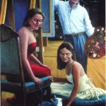 """Las Mujeres""   George T. Lawrence, Jr.   Oil On Linen   37"" X 25"""