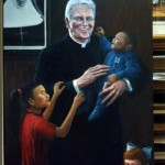 """Father John Fagan""    50"" X 34""    Oil On Linen        2000"